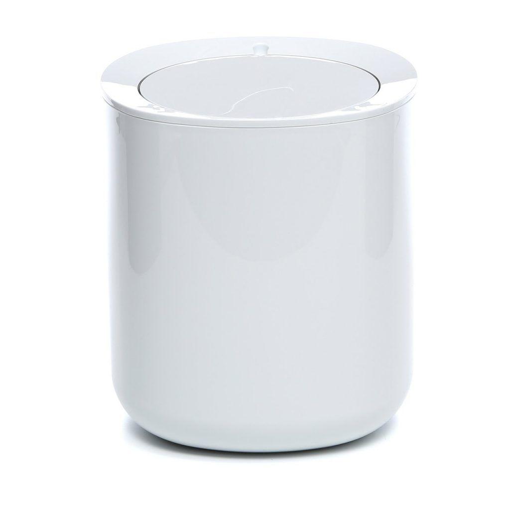 Black And White Bathroom Trash Can | Bathroom Ideas | Pinterest ...