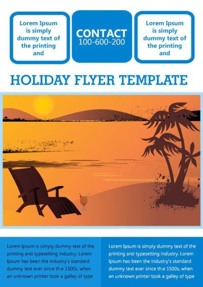 Holiday Party Invitation Flyer Template Free Holiday Flyer