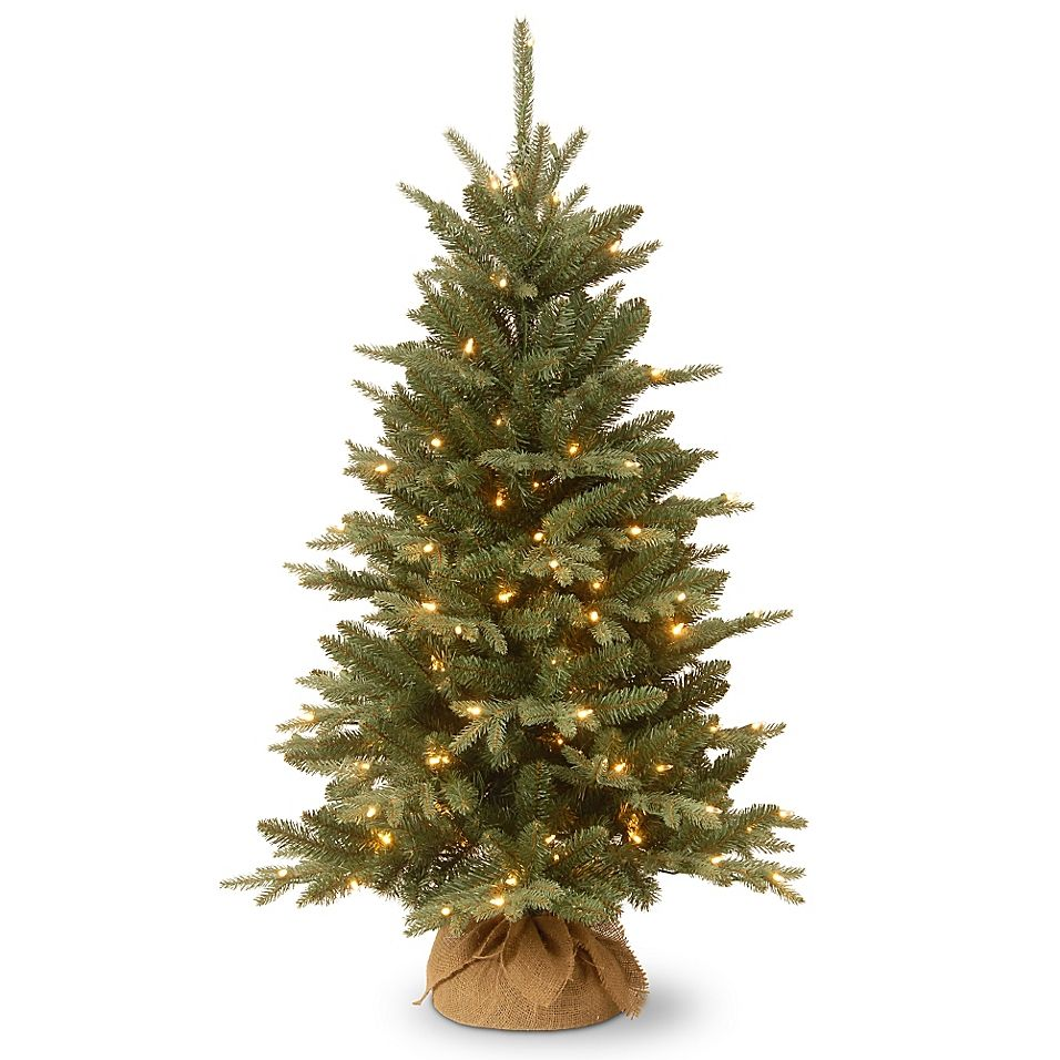 National Tree Company 4 Everyday Burlap Pre Lit Christmas Tree With Clear Lights Christmas Tree Clear Lights Tabletop Christmas Tree Pre Lit Christmas Tree