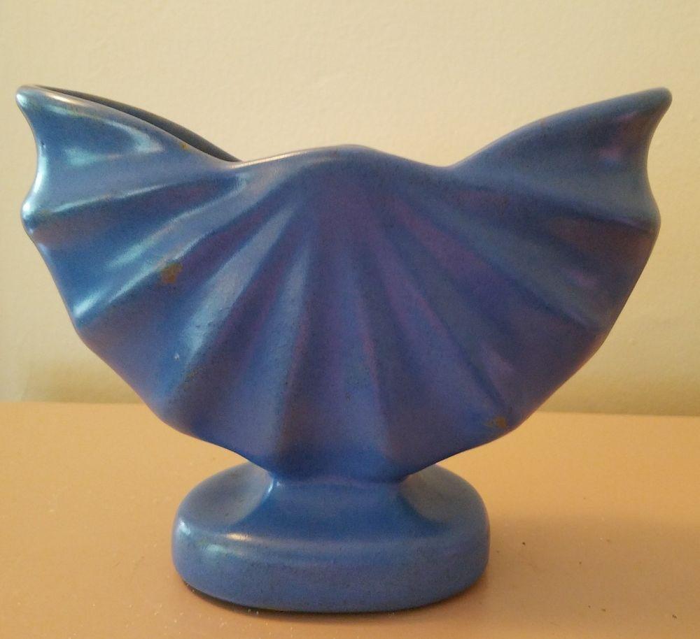 Vintage camark fan style pottery vase planter cornflower blue vintage camark fan style pottery vase planter cornflower blue reviewsmspy