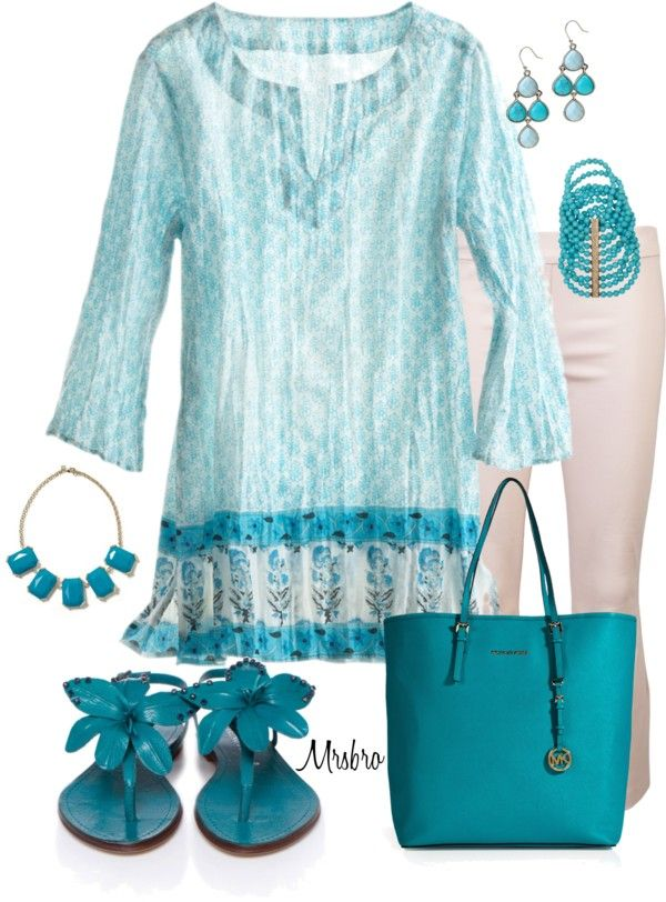 """""""Summertime Tunic"""" by mrsbro ❤ liked on Polyvore"""