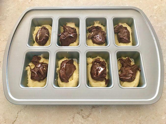 Mini Marmor Kuchlein In Der Mini Kuchen Form Von Pampered Chef Mini Kuchen Marmorkuchen Pampered Chef Rezepte Kuchen