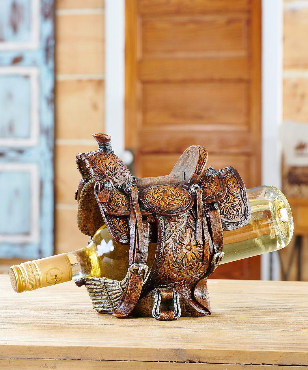 Horse Saddle Wine Bottle Holder