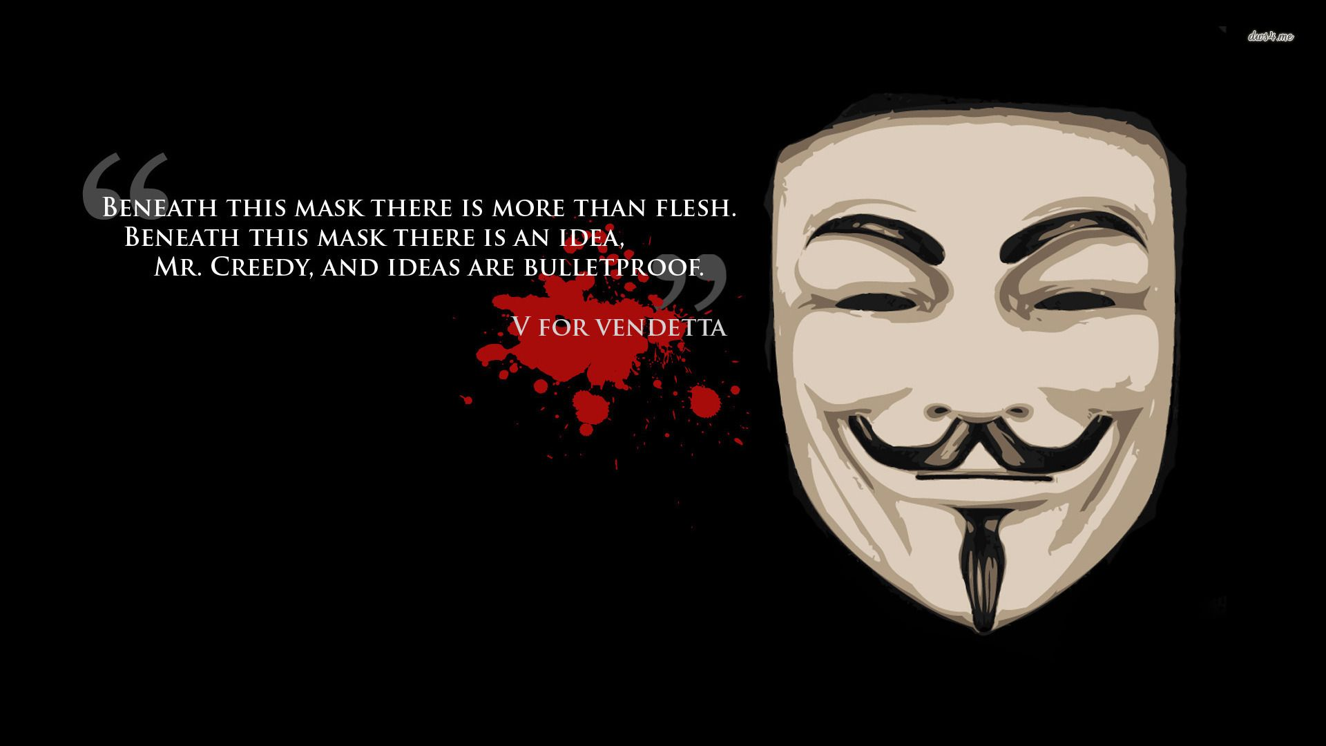 V For Vendetta Quotes Large Hd Wallpaper Database V For