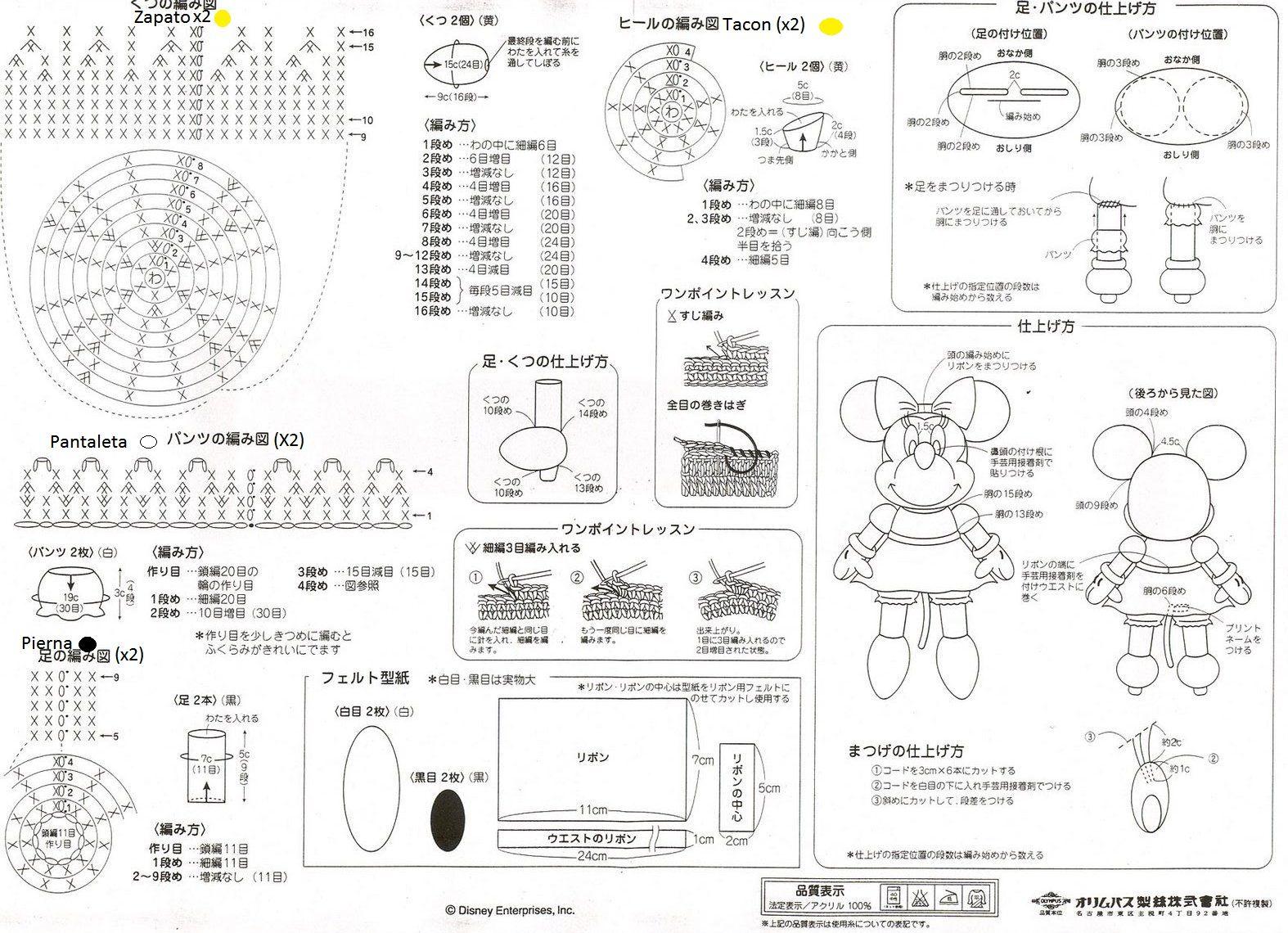 EL DESVÁN DE LOS AMIGURUMIS: Amigurumi Disney Minnie Mouse: patrón ...