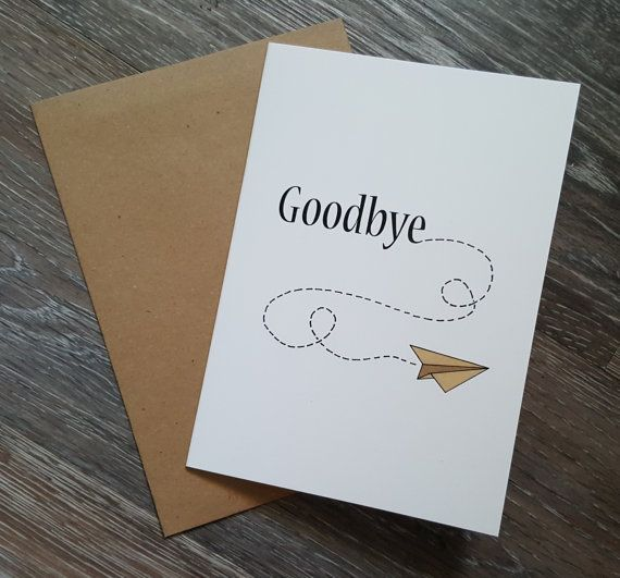 Goodbye Card Farewell Card Leaving Card Greeting Card Coworker