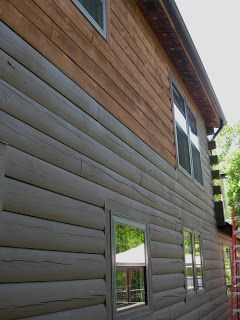 CtLogCabin ~ Sherwin Williams Woodscapes Solid stain ... color is ...