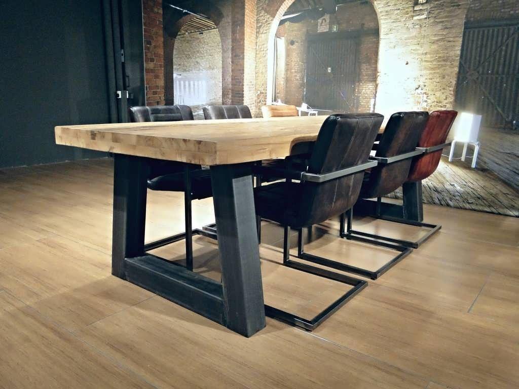 Industriele tafel troyes robuuste tafel 1699 euro incl btw eetkamer tafel x 1 meter - Tafel eetkamer industriele ...