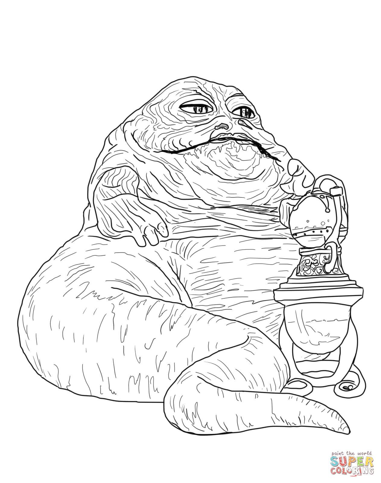 Jabba The Hutt Super Coloring With Images Star Coloring