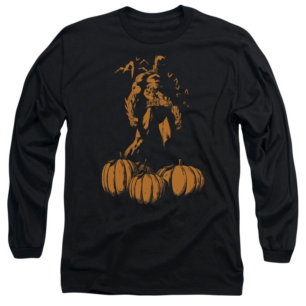 Batman A Bat Among Pumpkins Black Long-Sleeve T-Shirt