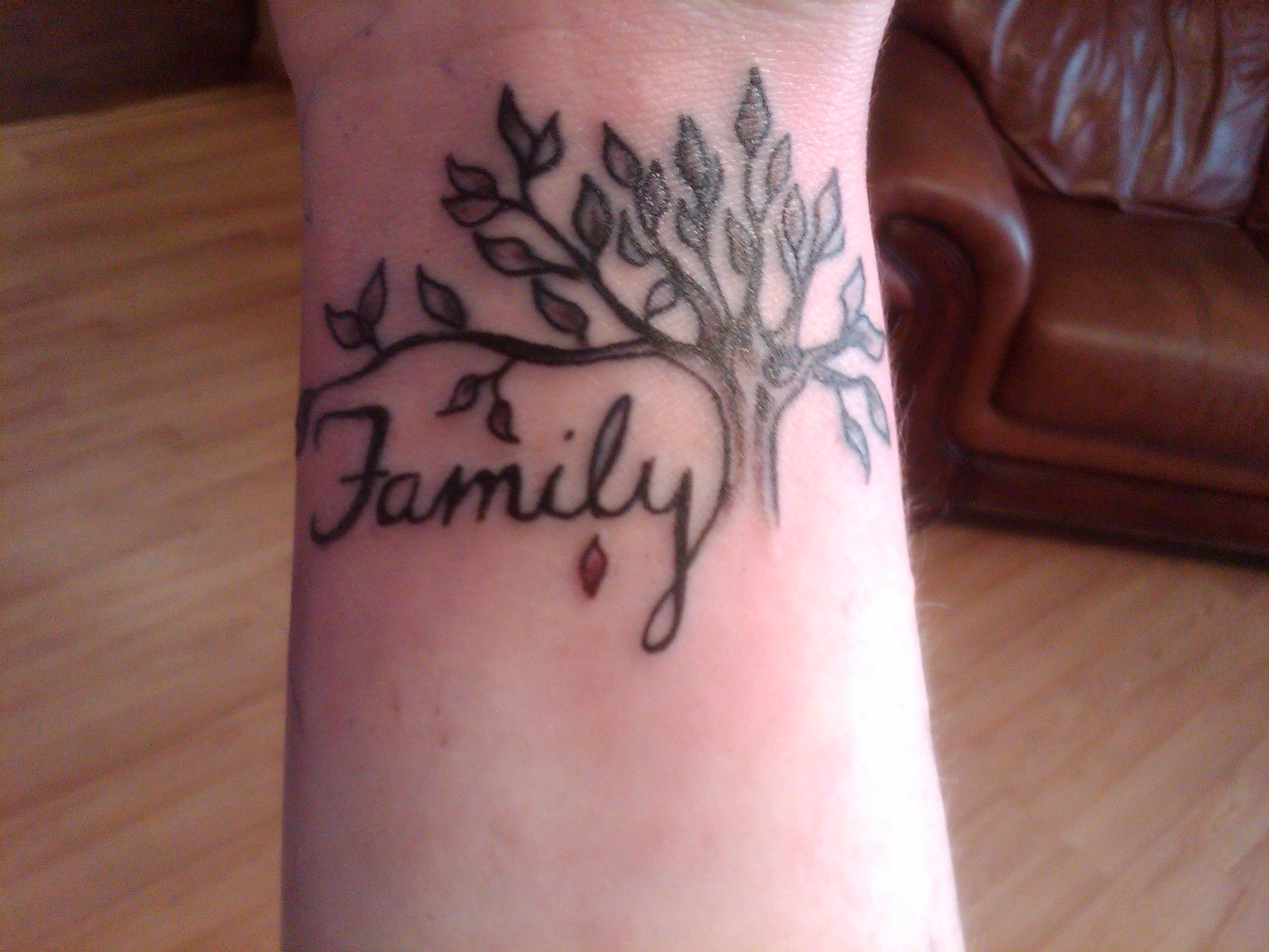 Family First Tattoo Designs | Family Tree Tattoos ...