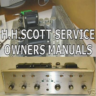 Details about Scott Amp Amplifiers Service Manuals Schematics