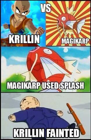 Krillin Vs Magikarp Dragon Ball Super Funny Dbz Funny Dbz Memes