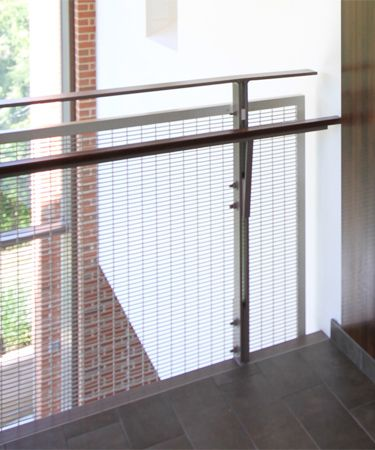 Banker FPZ-16 wire mesh powder coated and framed into angle