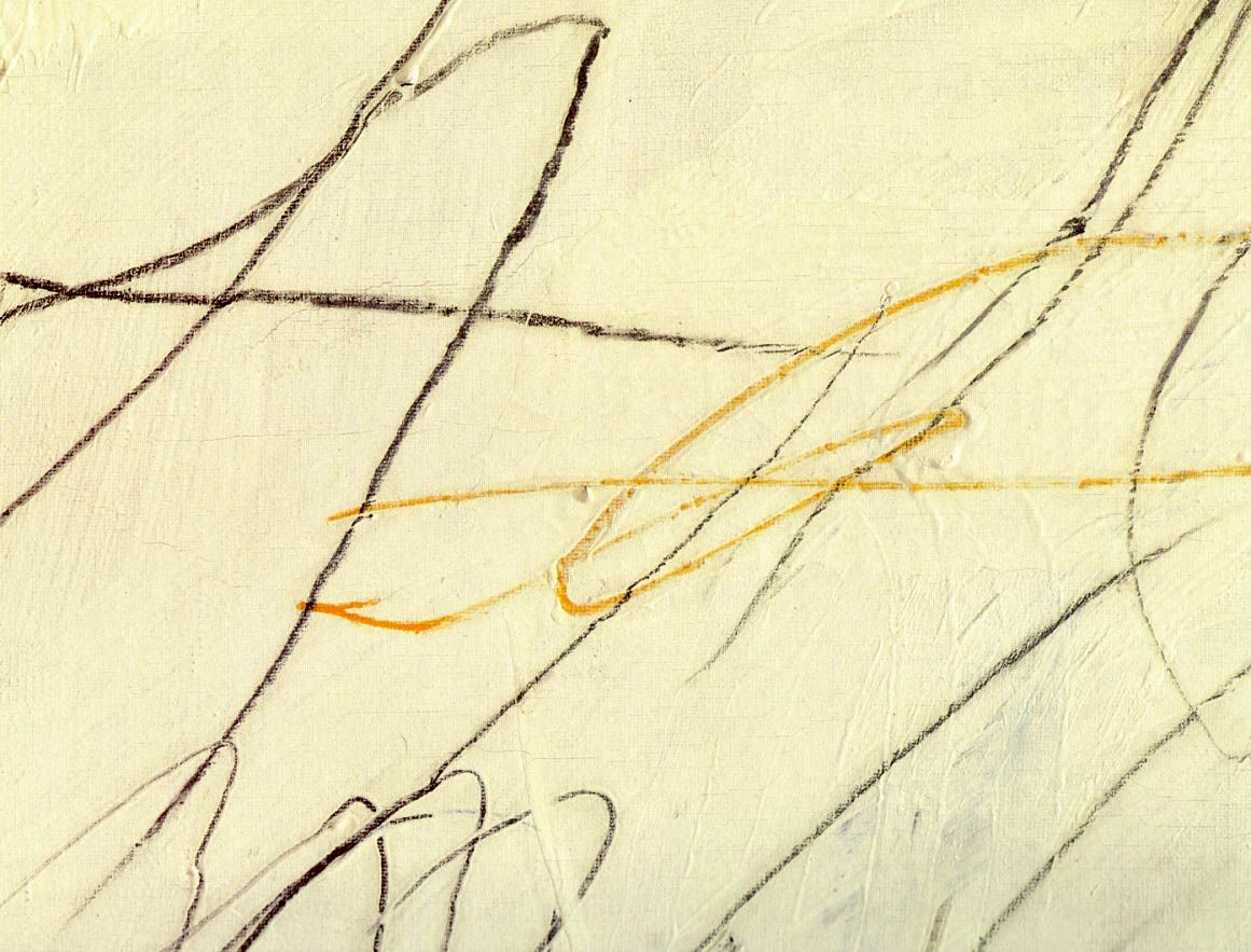 """Twombly, Cy Blue Room 1957 Detail House paint, crayon, and pencil on canvas 56 1/4 x 71 1/2"""" (142.9 x 181.6 cm)"""