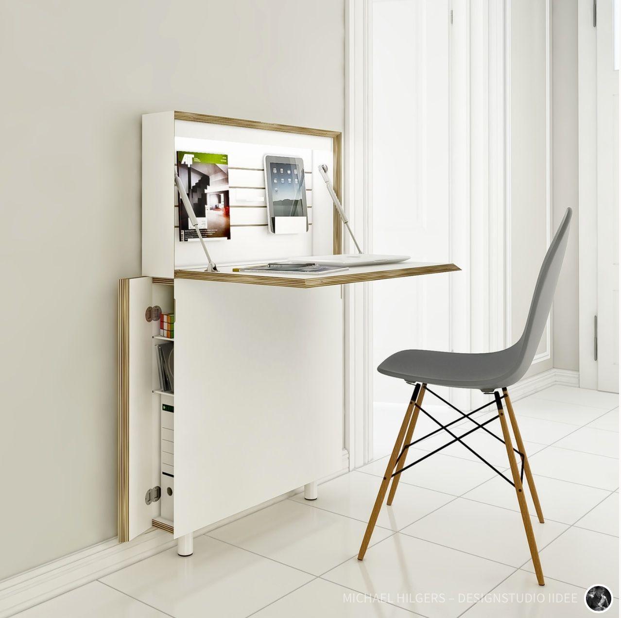 scrivania all in one Scrivania design, Tavolo pieghevole