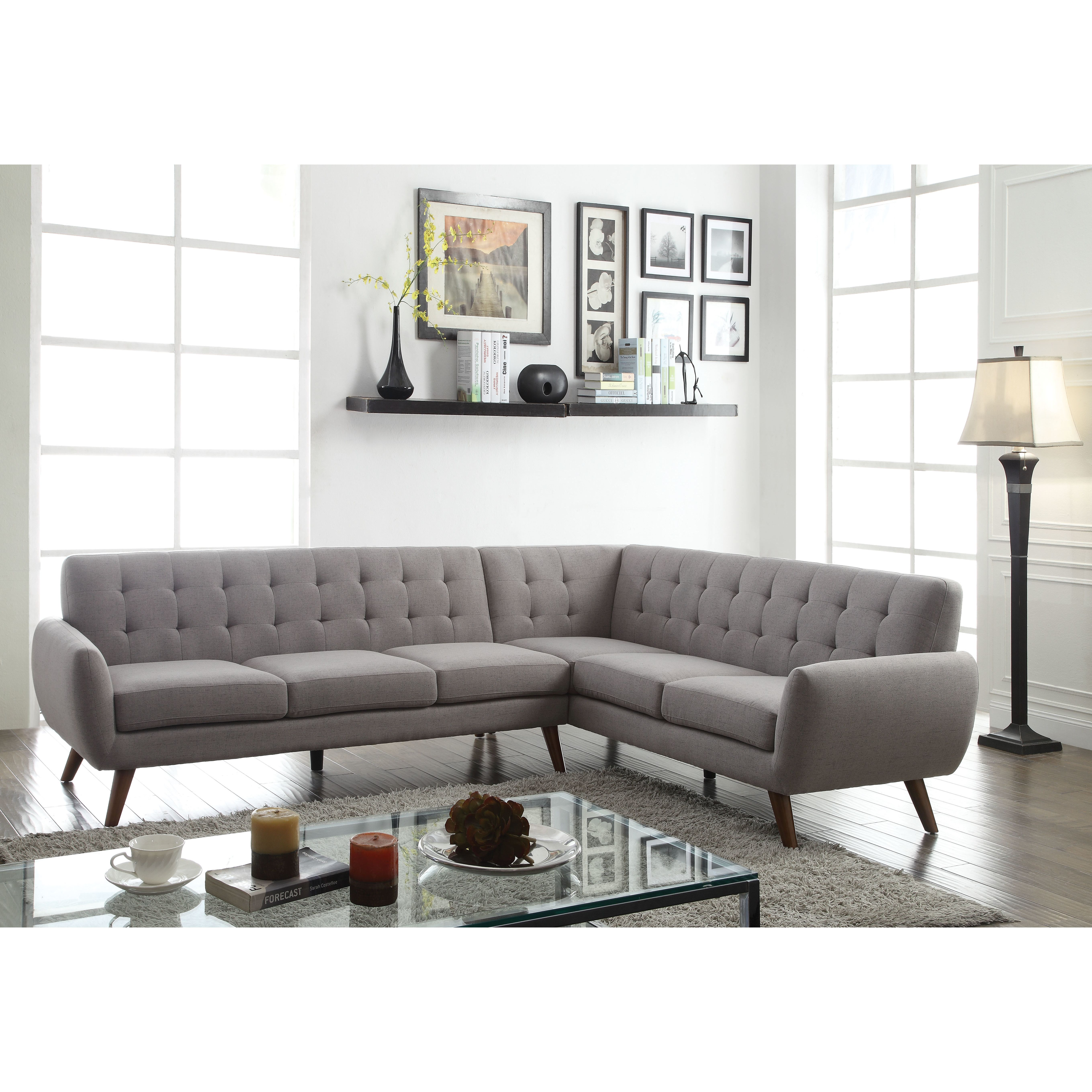Acme Furniture Essick Sectional Right Facing Love Amp Wedge Sectional Sofa Sectional Sofa Couch