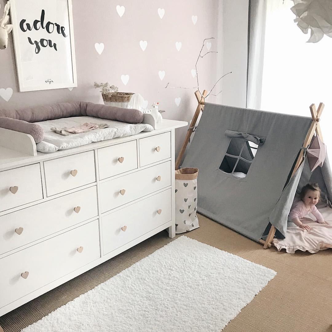 Babyzimmer Mädchenzimmer Inspo Inspiration Deko Idee Wandsticker