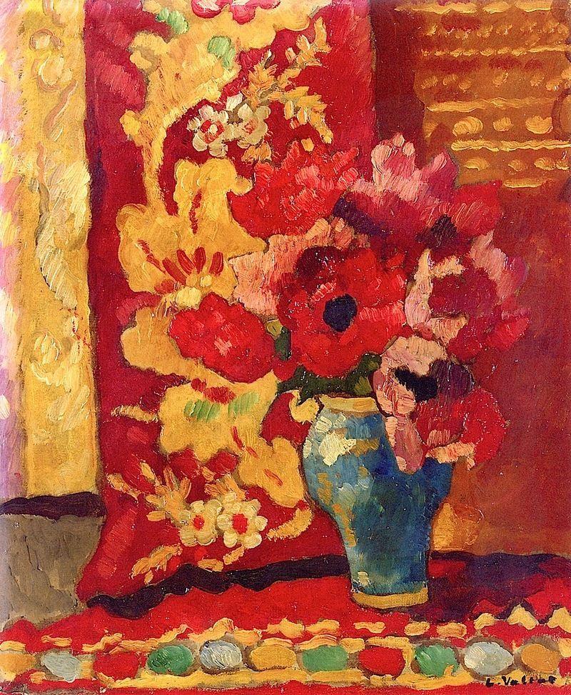 Louis Valtat - Blue Vase, Tulips