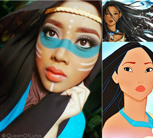 Make Up Halloween Simple Hijab.The Cold Never Bothered Us Anyway Hairflip Disney Gives