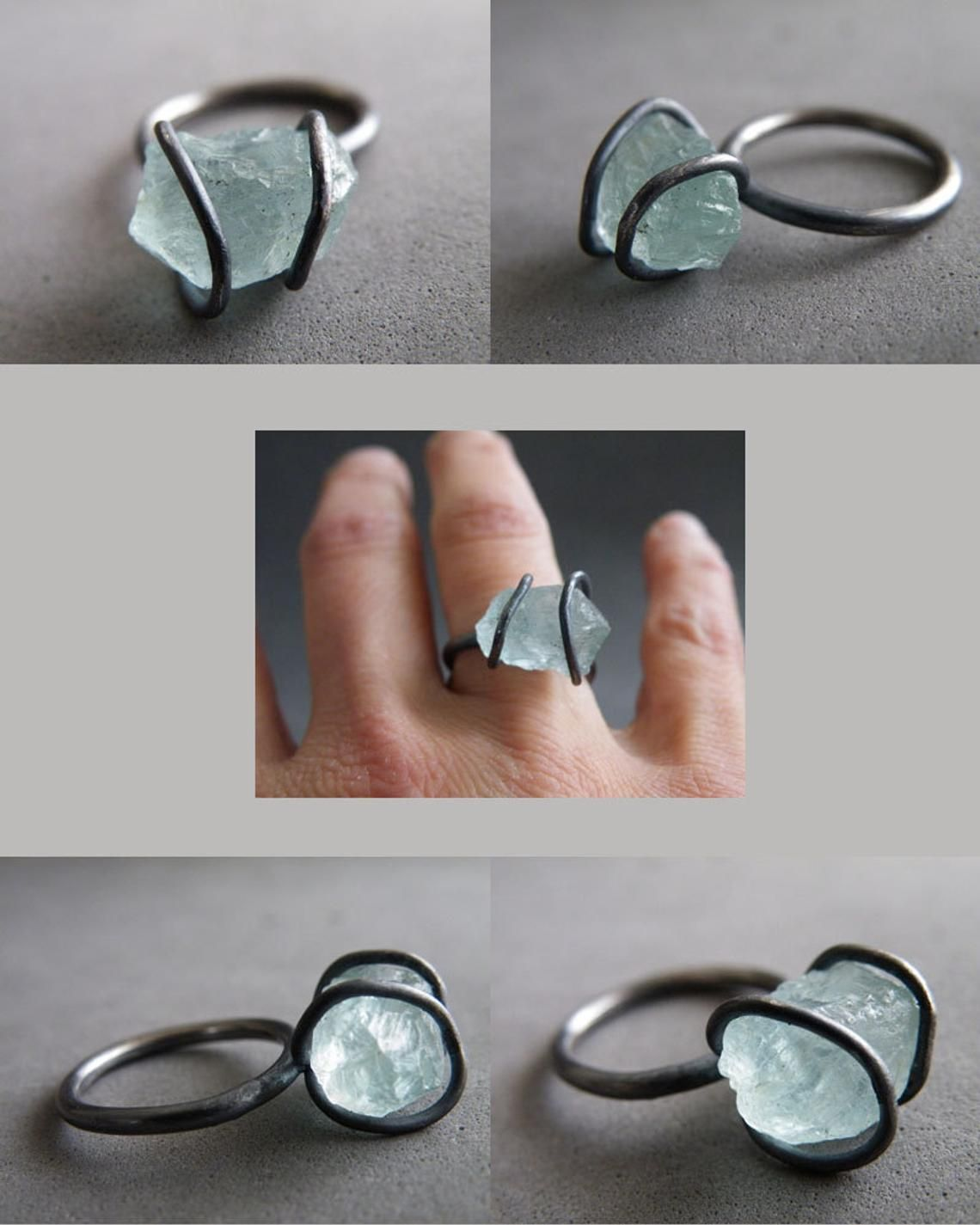 natural stones, Earrings Aquamarine and raw sterling silver,oxidized silver,artisan jewelry,Handmade,modern form,silver jewelry