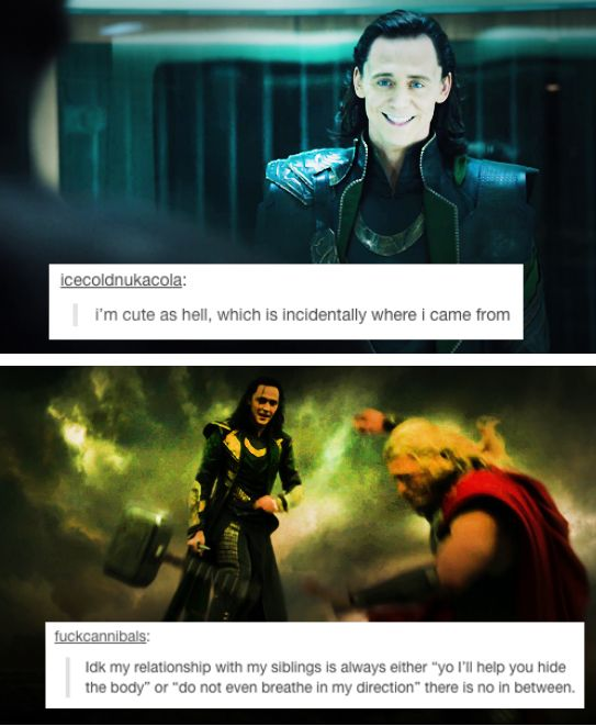 Funny Quotes About Loki. QuotesGram |Funny Thor And Loki Text
