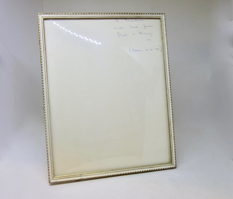 Vintage Photo Frame Large Danish Style Brass Frame With Convex Glass Stand Up Picture Frame Bubble Glass In 2020 With Images Vintage Photo Frames Photo Frame Brass Frame