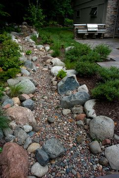 Landscaping A Dry River Bed Design Ideas Pictures Remodel And Decor Page 99 Landscaping With Rocks Sloped Garden Backyard Landscaping