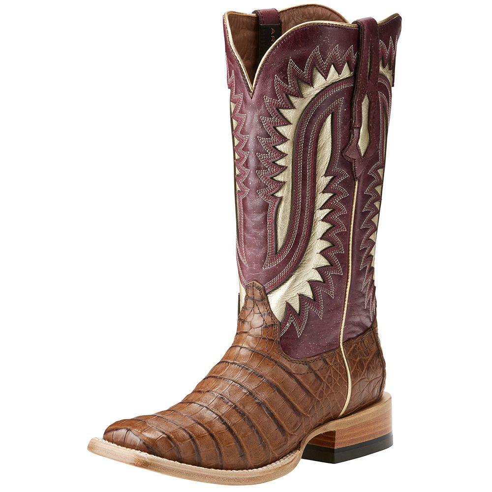 084c3472c60 Men's Ariat Silverado Caiman Carmel Belly Blush Cowboy Boots   Wish ...