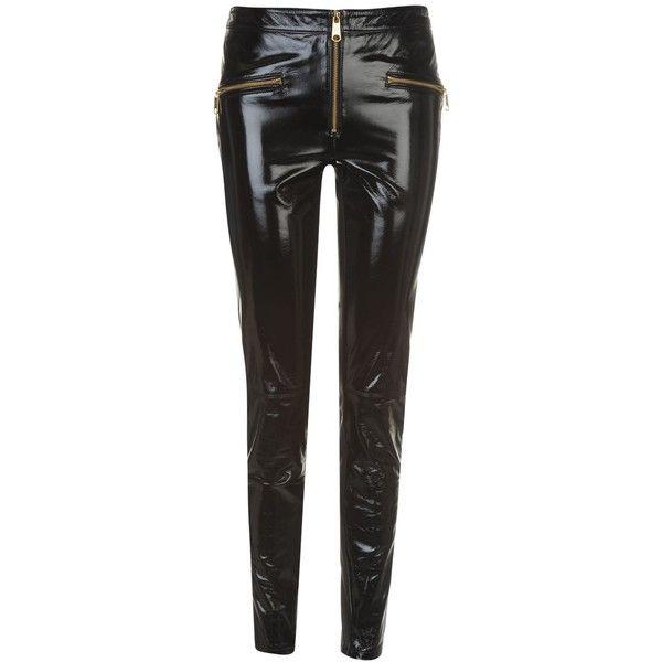 f08d4dff TOMMY X GIGI Gigi Hadid Leather Biker Jeggings featuring polyvore, women's  fashion, clothing, pants, leggings, tommy hilfiger, biker leggings, jean  leggings ...