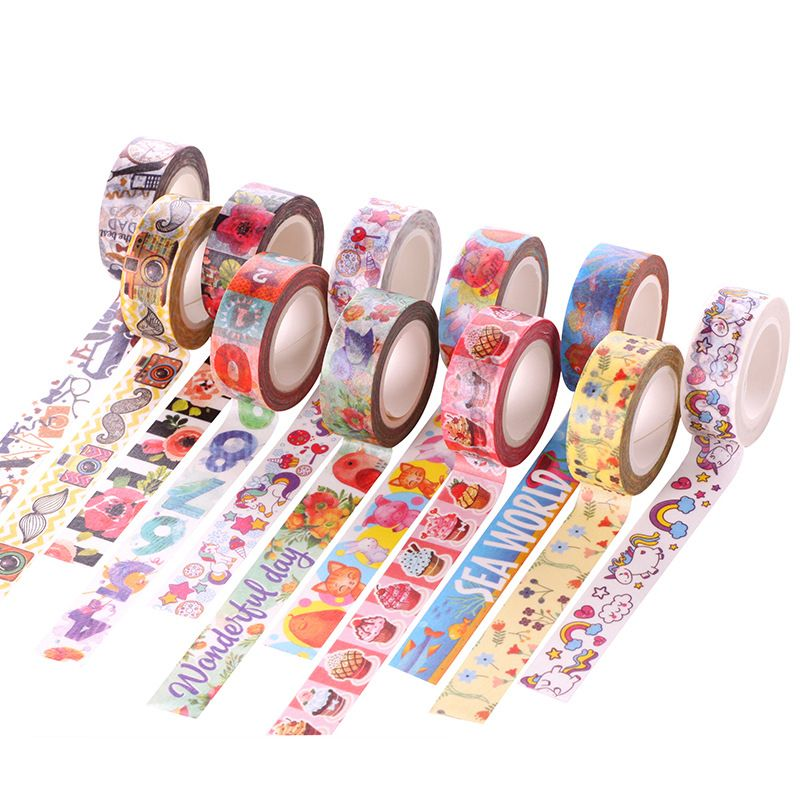 24 Style Cartoon Decorative Washi Tape Diy Scrapbooking Masking Tape School Office Supply Escolar Papelaria 10m*15mm-in Office Adhesive Tape from Office & School Supplies on Aliexpress.com | Alibaba Group