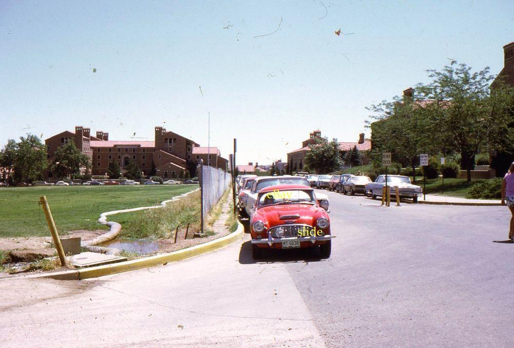 1953 Austin Healy 35mm Slides Red Convertible British Car Lot 3