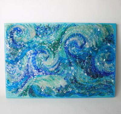 """Coastal"" glass wall art by Victoria Garley – Fusion Art Glass Online Store"