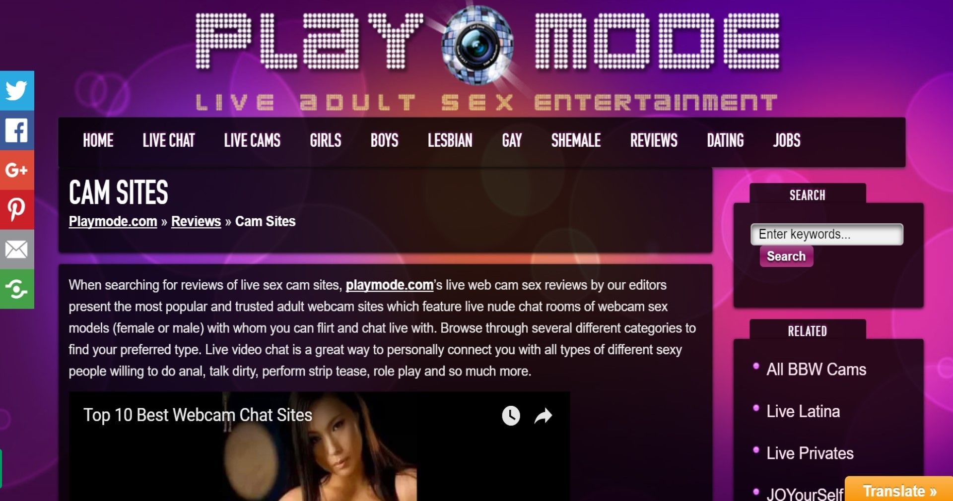 top 10 best live sex cams & adult dating sites - playmode | live