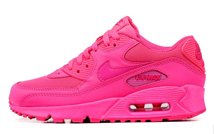 Details about Women's Nike Air Max 90 White Yellow Fuchsia
