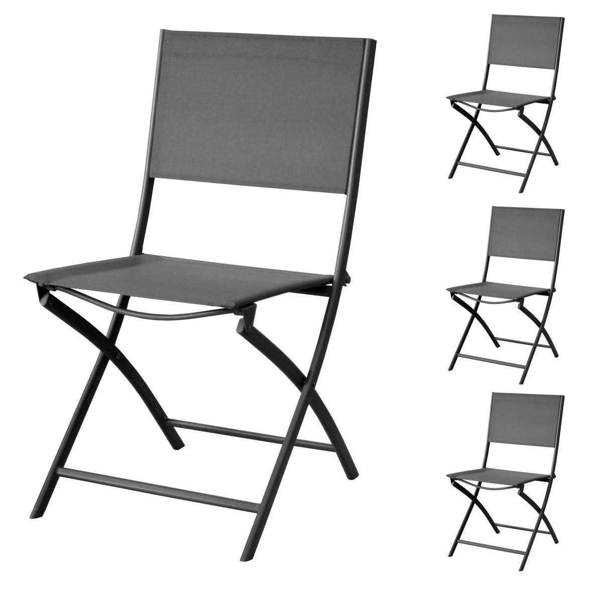 Chaise De Jardin Santos Pliable Framboise Lot De 4 Taille Taille Unique Chaise Proloisirs Et Acier