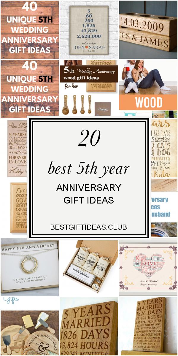 5th Year Anniversary Gift Ideas Elegant Best 25 5th