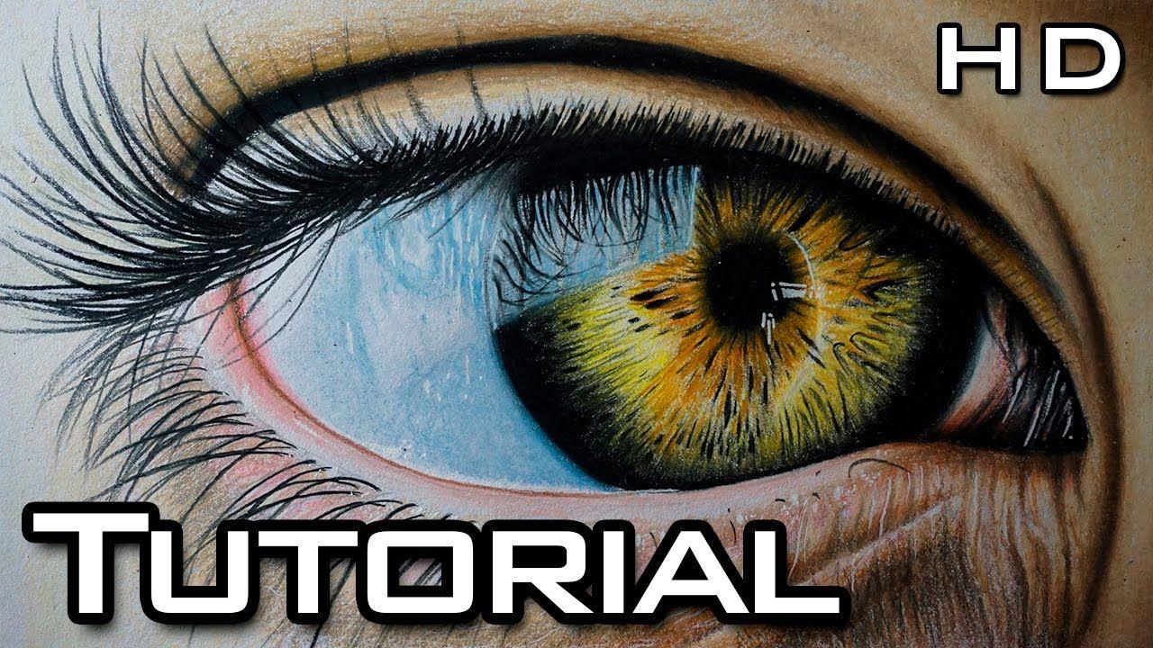 Como Dibujar Un Ojo Realista Paso A Paso Con Lapices De Colores