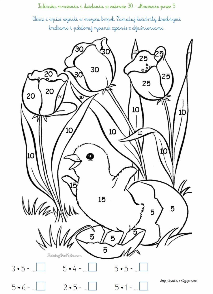 Kolorowanki Matematyczne To Swietna Zabawa Zatem Do Dziela Wydrukuj Obrazek A Gdy Obliczy Spring Coloring Sheets Spring Coloring Pages Easter Coloring Pages
