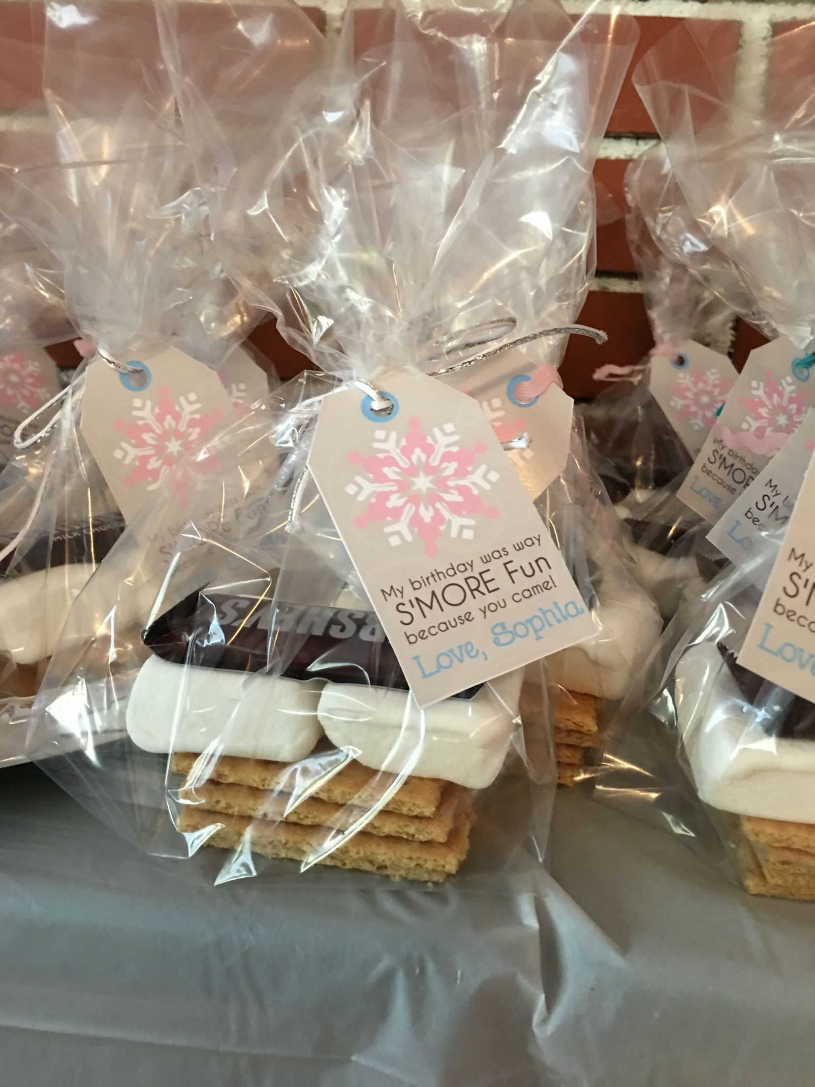 Smores Party Favors Winter Onederland Party Girl 1st Birthdays First Birthday Winter Onederland Birthday Party