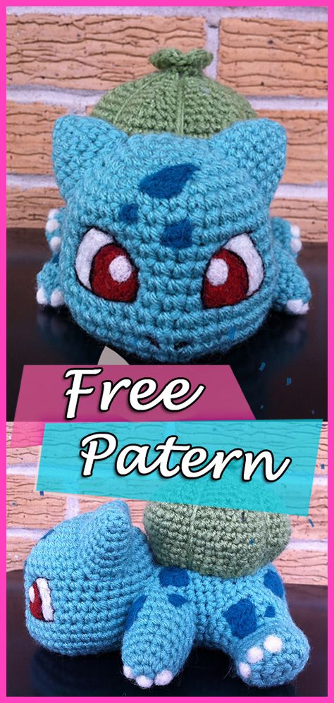Free Pokemon Crochet Patterns #freebabycrochetpatterns