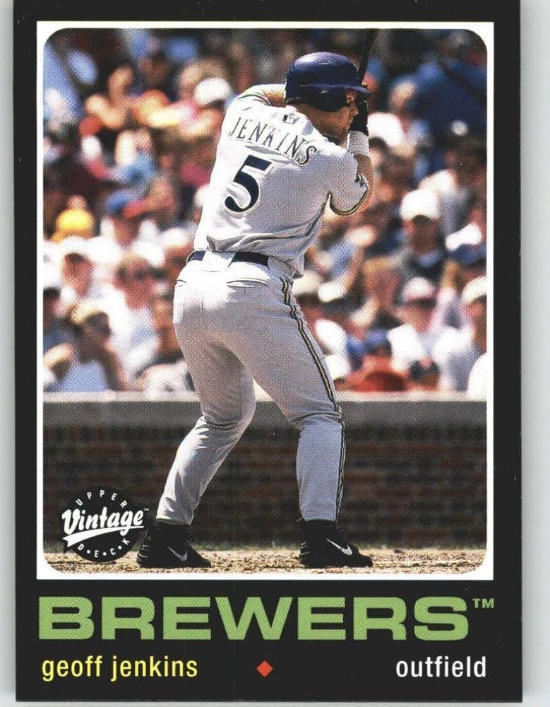 2002 Upper Deck Vintage #147 Geoff Jenkins Brewers Baseball Card #UpperDeckVintage #MilwaukeeBrewers