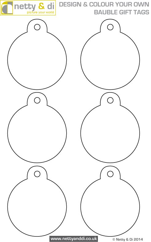design your own bauble gift tags with our free template