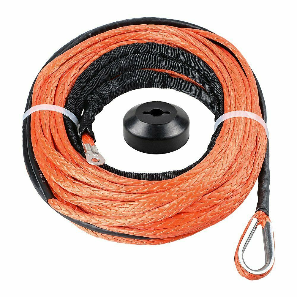 Ebay Sponsored 50 X 1 4 Orange Synthetic Winch Cable Rope 7000 Lb W Rubber Stopper Atv Utv Winch Cable Winch Atv