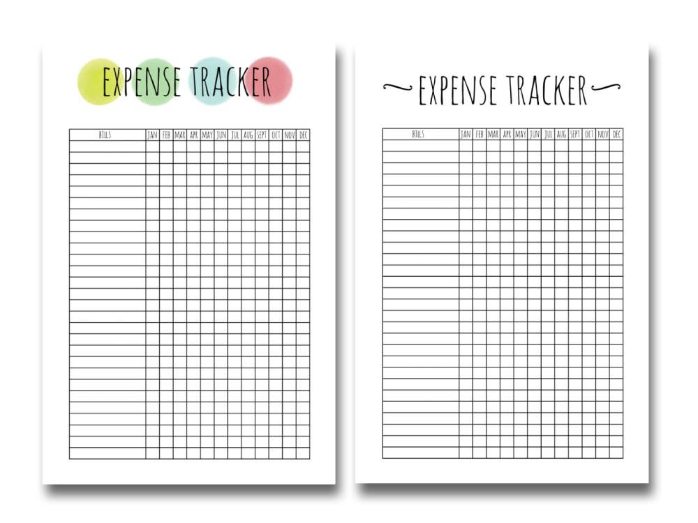 picture about Happy Planner Printable Inserts referred to as Expenditure TRACKER Mini Joyful Planner Printable Include, Produce