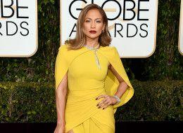 Jennifer Lopez Shines Bright At 2016 Golden Globes In Yellow Giambattista Valli Gown