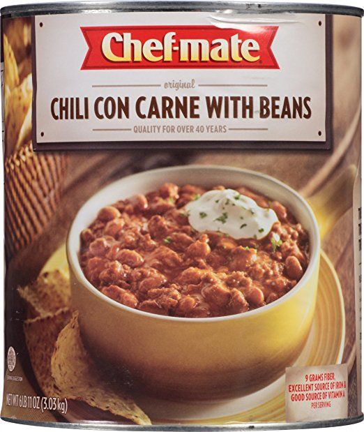 Chef Mate Chili With Beans 107 Ounce True Food Chili Food