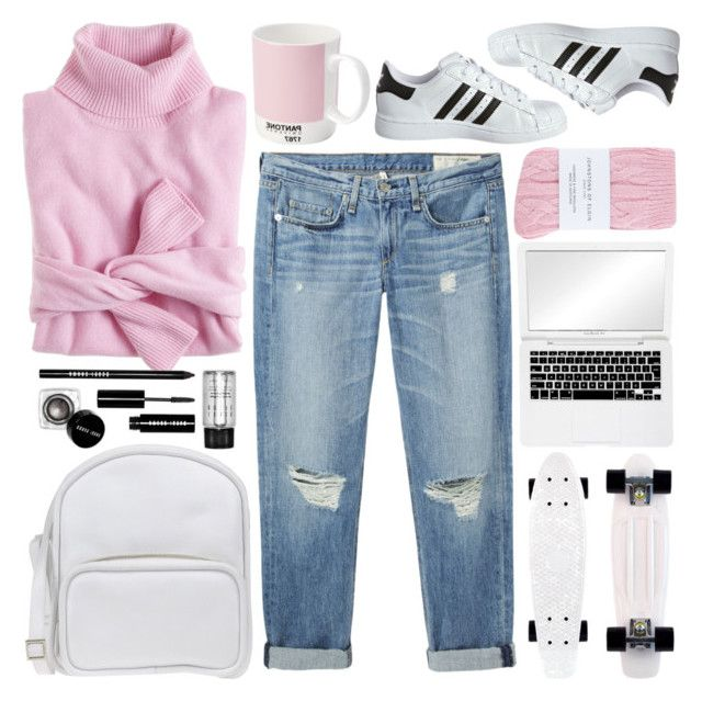 """""""♡ WHAT'S GOING ON ♡"""" by foreverswagger ❤ liked on Polyvore featuring rag & bone/JEAN, Johnstons, adidas Originals, J.Crew, Jil Sander Navy, Pantone and Bobbi Brown Cosmetics"""
