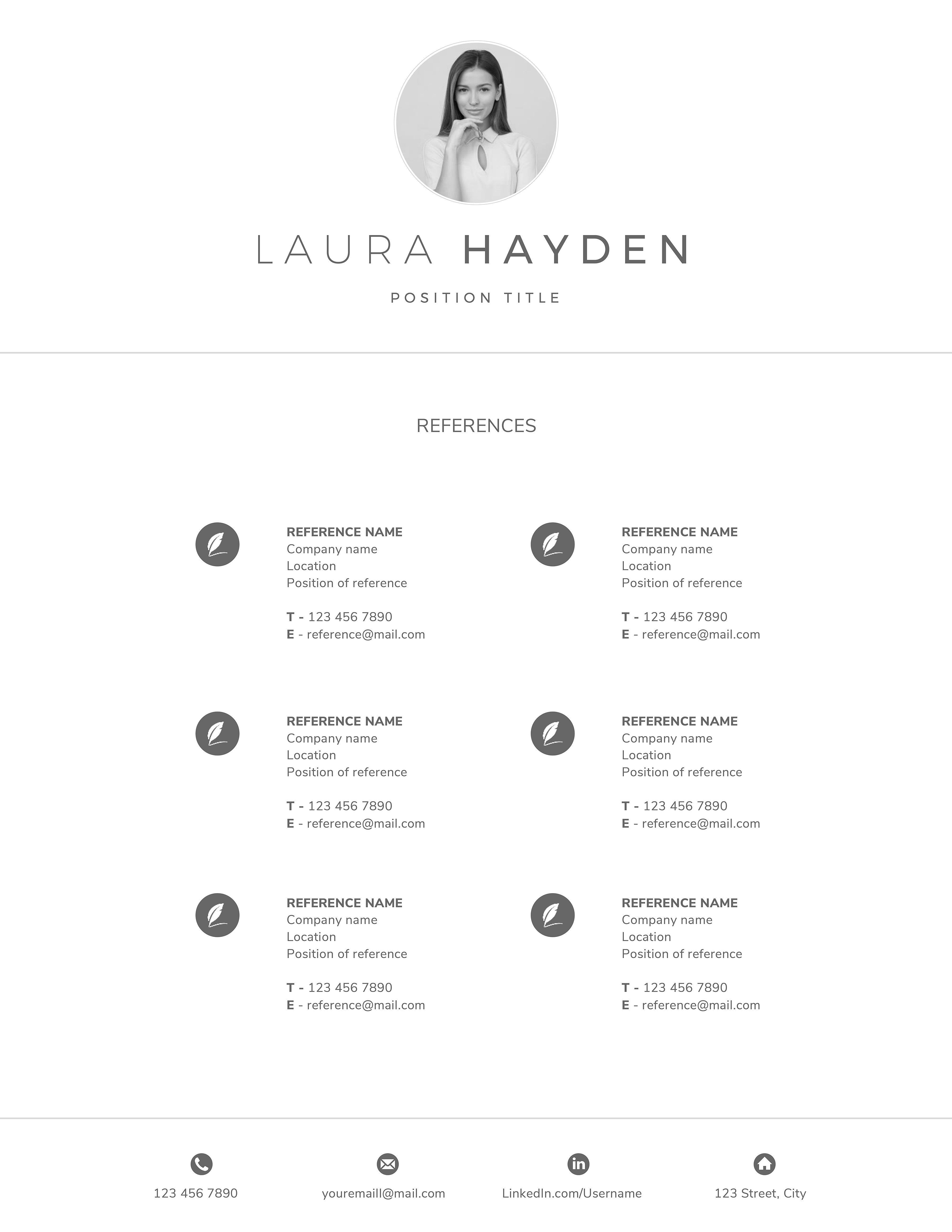 resume templates for text edit