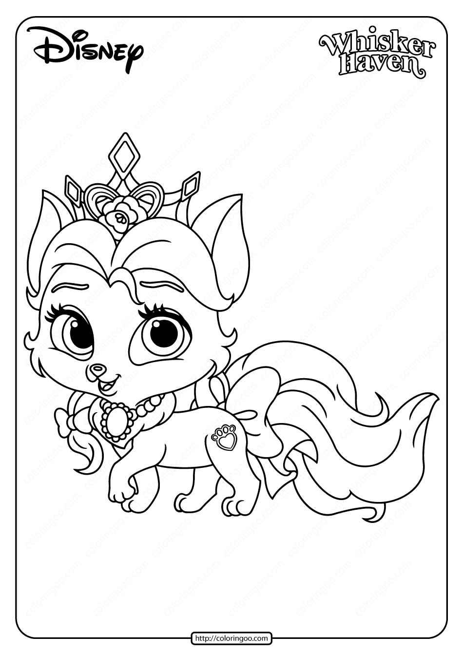 Printable Palace Pets Rouge Coloring Page In 2020 Palace Pets